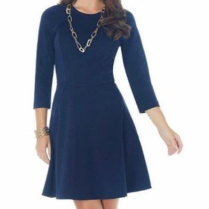 NWOT Daisy Fuentes Ponte Fit & Flare Dress